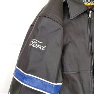 essex Jackets & Coats - 🔥Ford Racing Genuine Leather Bomber Coat